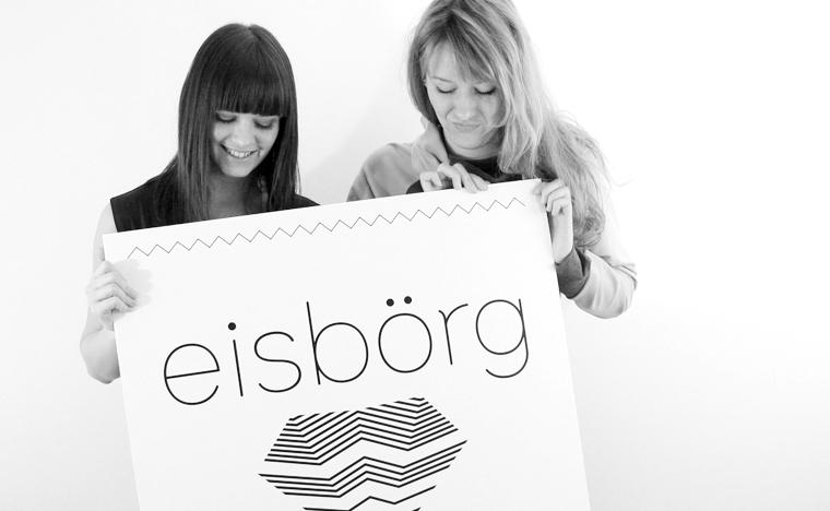 eisboerg Streetwear Team: Linda und Therese mit Logo