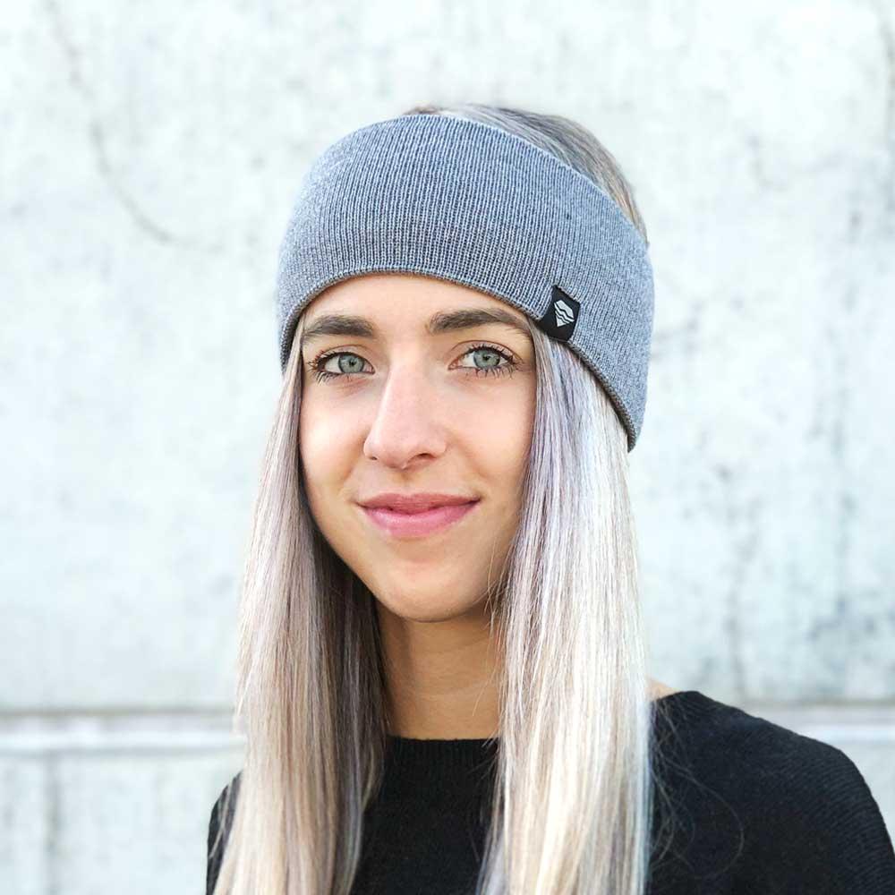 Stirnband-hellgrau-gestrickt-Merino-Wolle-nachhaltig-Ohrenwärmer-Damen-Herren-Winter-Accessoire-grau